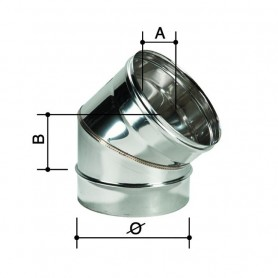 Curva monoparete in acciaio inox