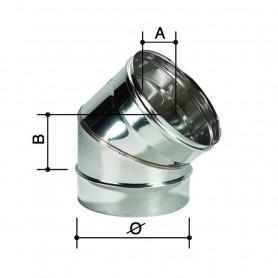 Curva monoparete in acciaio inox aisi304 da 45° Curva ø 250