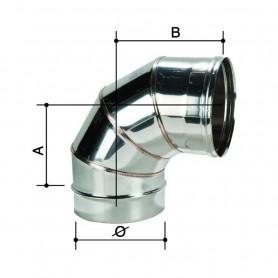Curva monoparete in acciaio inox aisi304 da 90° Curva ø 100