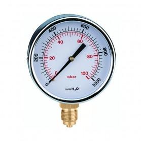 Manometro Gas Attacco Radiale ART.846104