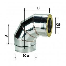 Curva 90° Doppia Parete in Acciaio Inox      ART.3307055216160