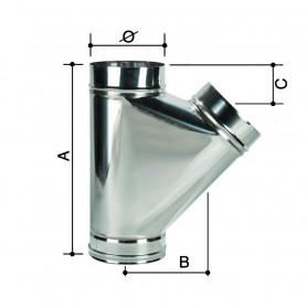 Raccordo a T Monoparete Acciaio Inox         ART.3304055224240