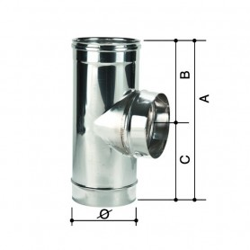 Raccordo a T Monoparete Acciaio Inox         ART.3305055222440