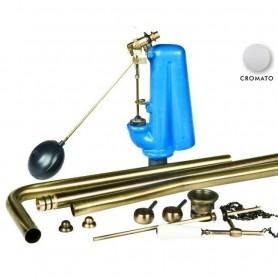 Meccanismo di Scarico per Cassetta Alta      Cromo ART.ANTOTCR