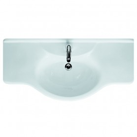 Lavabo Consolle cm120 Azzurra Serie Collection in Ceramica bianco ART.CO120