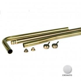 Kit Tubi per Meccanismo Cassetta Alta Cromati