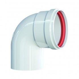 Curva 90° Alluminio Pressofuso Bianca