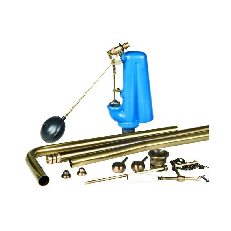 Meccanismo di Scarico per Cassetta Alta      Bronzato ART.ANTOTBR