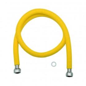 Flessibile in Acciaio Inox Rivestito con Guaina Gialla  750-1500mm