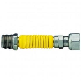 Flessibile per Gas in Acciaio Inox Rivestito Estensibile 20-42 cm