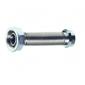 """Flessibile per Contatore Gas in Acciaio Inox  F.3/4"""" F.1"""" 15 cm"""