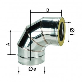 Curva 90° Doppia Parete in Acciaio Inox      ART.3307055216020
