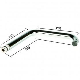Canna Quadra Miscelatore per Lavello Serie Kappa ART.R4508CCCC