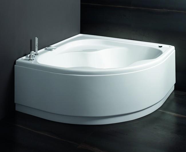 Vasca Da Bagno Glass Astor : Vasca in acrilico bianco con telaio glass serie astor cm140x140 ar