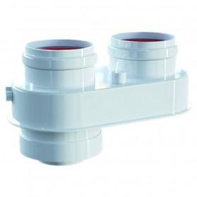 Sdoppiatore Kit Fumi Bianco con Ispezione per Caldaie ART.PU235006