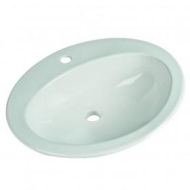 Lavabo Incasso Soprapiano cm57 in Ceramica Bianco