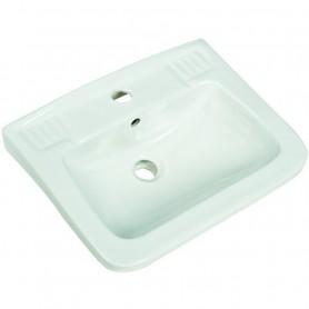 Lavabo Quadrato Habitat in Ceramica Bianco   ART.TRISL3545