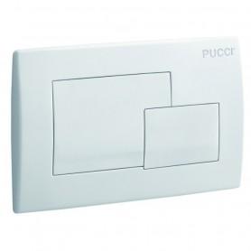 Placca 2 Tasti Pucci Serie Eco Quadro Bianca