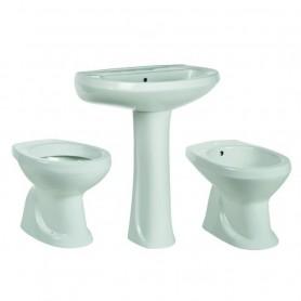 Sanitari Bagno Habitat Serie Tris 4 Pezzi in Ceramica Bianco