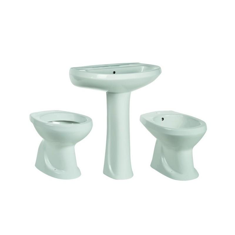 Sanitari Bagno Habitat Serie Tris 4 Pezzi in Ceramica Bianco 024687