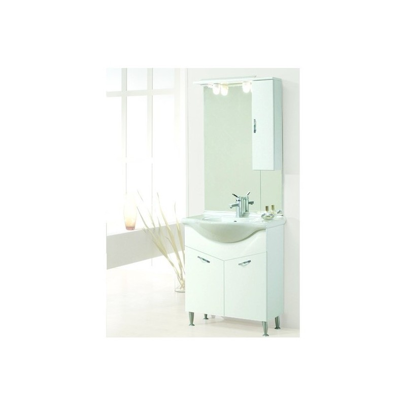 Specchiera da bagno con pensile savini serie alfa ar - Mobili bagno savini ...