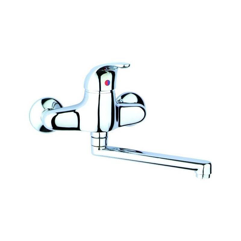 Miscelatore Monocomando Lavello a Parete     Cromo Serie Oscar ART.2035075000