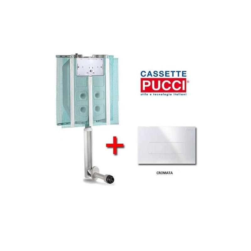 Accessori Bagno Pucci : Cassetta ad incasso pucci serie sara con placca cromata