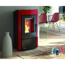 Termostufa a Pellet Bordeaux Serie Wanna Idro