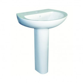 Colonna per Lavabo Serie Attesa in Ceramica  Bianca