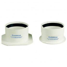Kit Tronchetti Flangiati Immergas ø80/80     per Caldaie a Condensazione