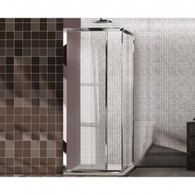 Box Doccia Angolare in Cristallo Serie Easy   cm67/70x117/120x195h ART.KIT