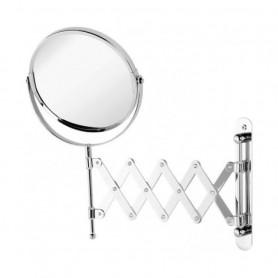 Specchio Estensibile da Muro Acciaio Cromo   ART.151018-B