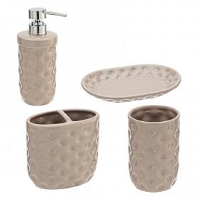 Set Ceramica 4 Pezzi Serie America Tortora   ART.880002