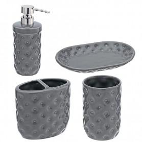 Set Ceramica 4 Pezzi Serie America Grigio ART.880003