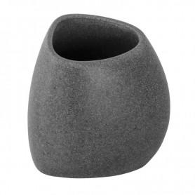 Portaspazzolino Bagno in Poliresina Effetto  Pietra Grigio Serie Stone ART.442006
