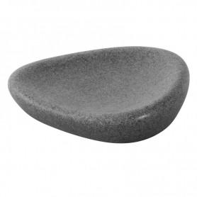 Portasapone Bagno in Poliresina Effetto      Pietra Grigio Serie Stone ART.442007
