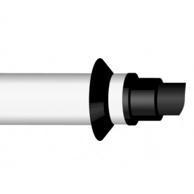 Tubo Coassiale Baxi con Terminale per Caldaiea Condensazione ø60/100mm