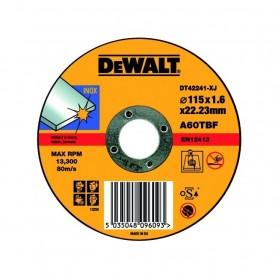 Disco per il Taglio su Acciaio Inox ø115mm   ART.DT42240-XJ