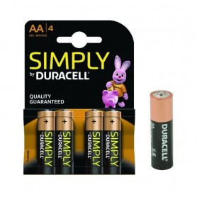 Batteria Duracell Simply 1,5V Stilo AA       Blister 4 Batterie ART.DU030