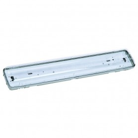 Plafoniera Stagna per Neon 2x18W             L.627mmH.82mmP.121mm ART.218RE