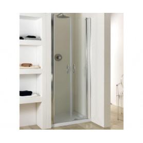Porta Saloon in Cristallo box doccia  6mm Modello Venere 75x195cm ART.WOOD64-74ALLTRSP