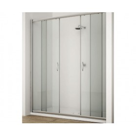 Doppia Porta Scorrevole box doccia  in cristallo
