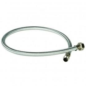 "Flessibile in Acciaio Inox per Alimentatore  d'Aria cm70 M.1/4""F.1/2"" ART.00311/L"