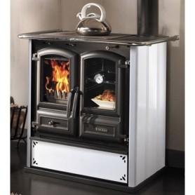 Cucina a Legna Bianco Serie Regina 631 Steel ART.1512605