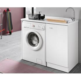Lavatoio Bagno Coprilavatrice Bianco Serie Prima cm110x60x87h ART.DL1061B