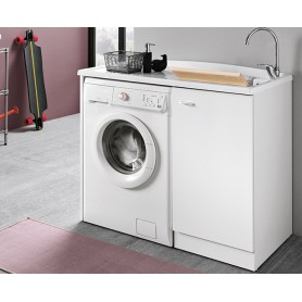 Lavatoio Bagno Coprilavatrice Bianco Serie   Prima cm110x60x87h ART.DL1062B