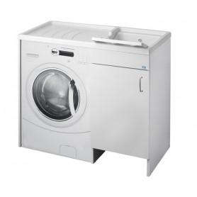 Lavatoio Bagno Coprilavatrice Bianco         cm107x60x90h