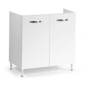 Mobile Sottolavello Bianco per Lavello Inox  cm80x50x85h