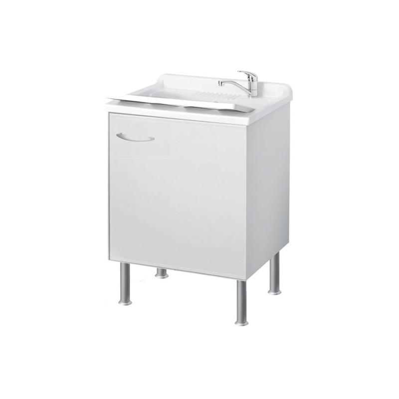 Mobile Lavatoio con vasca Bianco misure 45x50x90 h cm