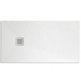 Piatto Doccia Rettangolare Bianco Althea Modello London cm80x100xH2,5 Effetto Pietra